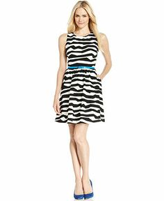 Jessica Simpson Sleeveless Zebra-Print Belted A-Line Dress - Dresses - Women - Macy's  Zebra texturezebra texture Zebra Textur Zebra texture textura de la cebra Зебра текстуры 얼룩말 텍스처 ゼブラテクスチャ