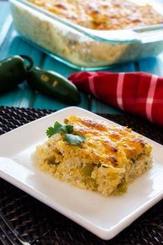 Cheesy Green Chile Quinoa Casserole    from the cooking quinoa blog. much like an old bisquick recipe that i used to make but much healthier.