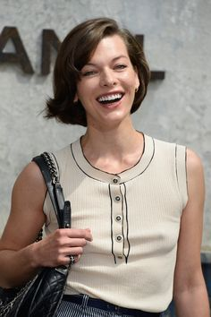 Milla Jovovich - Chanel show during Paris Haute Couture Fashion Week July 2, 2013
