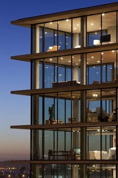 "The Q By Jonathan Segal. This is a 29 unit apartment building in San Diego, CA. The architect named it for ""Q"" from the James Bond movies. - LOVE IT! Architecture Design, Amazing Architecture, Building Architecture, Architecture Interiors, Minimalist Architecture, Landscape Architecture, Glass Building, Building Design, Design Exterior"