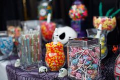 Halloween wedding candy buffet