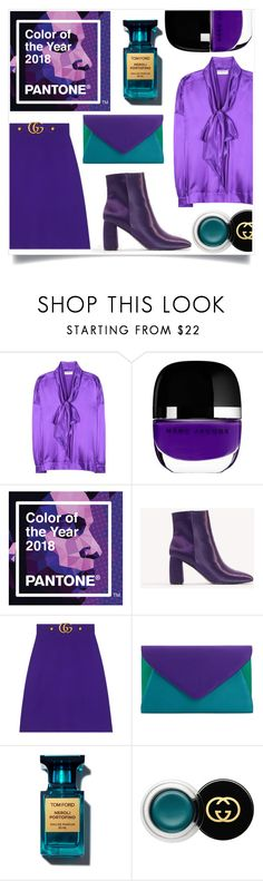 """""""Ultra Violet"""" by jaudrey ❤ liked on Polyvore featuring Balenciaga, Marc Jacobs, NA-KD, Gucci and John Lewis"""