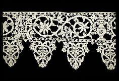 Date:      16th century  Culture:      Italian  Medium:      Needle lace  Dimensions:      L. 108 x W. 6 1/2 inches (274.3 x 16.5 cm)
