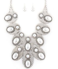 Celebrity Inspired Chunky Necklace Set Available Silver and Gold