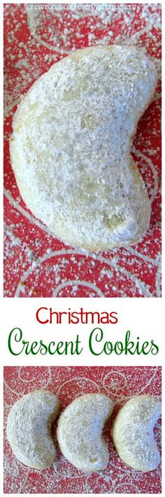 Christmas Crescent Cookies. This cookie recipe is one of my favorite things about the Christmas holiday!