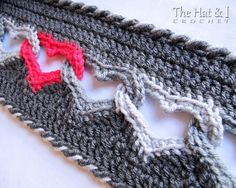 CROCHET PATTERN - Sweetheart Scarf - a linked heart scarf - infinity scarf/cowl - Instant PDF Download $7.31 AUD
