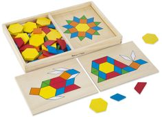 The Playful Otter: Melissa & Doug Pattern Blocks and Boards