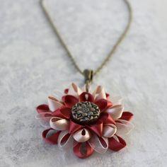 Rustic Necklace Earring Set Jewelry Gift for Her Burnt Orange Rustic Necklaces Bronze Necklace Bronze Earrings Petal Perceptions