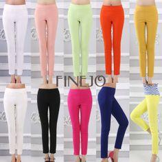 Women's Casual Pencil Pants Slim Long Trousers FINEJO