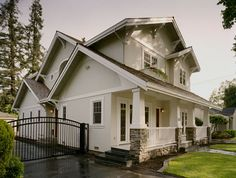 Custom Craftsman traditional exterior - Fox Home Design Craftsman Exterior, Craftsman Style Homes, House Paint Exterior, Traditional Exterior, My Dream Home, Dream Homes, Cottage Homes, House Painting, House Colors