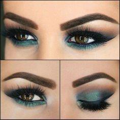 Maquillaje para combinar con vestido verde agua