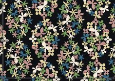 bloom - color F(black) / exact size-表示範囲の実寸 A3(A4x2)size / full width 108cm