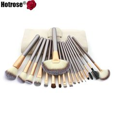 18 Pcs/kits Professional Cosmetic Makeup Brush Set Foundation Powder Eyeliner Brushes