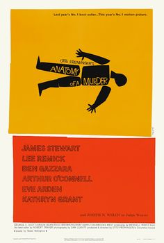 Poster for Preminger's Anatomy of a Murder (1959) by Saul Bass