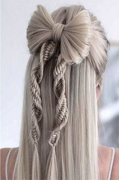 New Year Hairstyle, Wedding Hairstyles For Long Hair, Modern Hairstyles, Braids For Long Hair, Party Hairstyles, Braided Hairstyles, Cool Hairstyles, Hair Wedding, Hairstyle Ideas