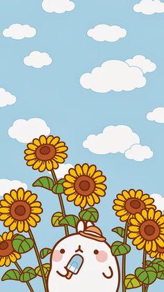 Wallpapers para tu Celular Molang - Ley-WorldKawaii Wallpapers for your Molang Mobile - Ley-WorldKaw Iphone Wallpaper Kawaii, Kawaii Cute Wallpapers, Kawaii Doodles, Kawaii Art, Kawaii Anime, Kawaii Drawings, Cute Drawings, Kawaii Background, Background Ideas