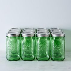 Green Ball American Heritage Collection Quart Mason Jars (Set of 12): Make them green with envy. #food52