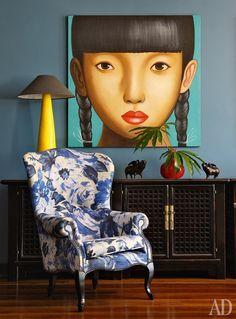 Интерьеры в синих тонах: квартира в Москве по дизайну Лады Кулаковой | Admagazine | AD Magazine