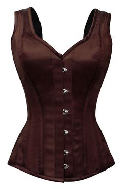 Steel Boned Steampunk Brown Classic Shape Strapped Overbust Sleeveless Corset in Clothing, Shoes & Accessories, Women's Clothing, Intimates & Sleep | eBay