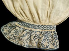 Man's Shirt (image 3) | England | 1540 | linen, silk thread | Victoria & Albert Royal Museum | Museum #: T.112-1972