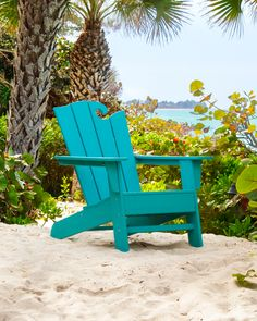 POLYWOOD® The Ocean Chair - OCA24 | POLYWOOD® Official Store Patio Dining Chairs, Outdoor Chairs, Outdoor Furniture, Outdoor Decor, Contemporary Adirondack Chairs, Polywood Adirondack Chairs, Homemade Bleach, Fire Pit Seating, Beautiful Ocean
