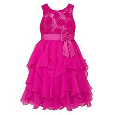 Girls 7-16 & Plus Size American Princess Floral Sequin Soutache Ruffle Dress, Size: 18 1/2, Lt Purple