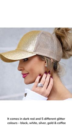 c857c836 Keep the sun out of your eyes with this new Messy Bun Baseball Cap! It