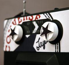 Styled Converse radio design.
