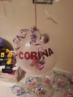 Balloons filled with treats,  instead of goody bags for birthday party.