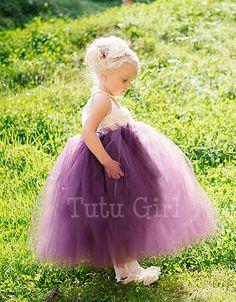 Eggplant Tutu Dress Plum Flower Girl Tutu Dress by TutuGirl