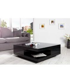 Konferenčný stolík Function 70 x 70 cm čierny vysoko lesklý 266eu