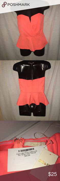 Neon peplum tube top Don't like the price?  Make me an offer!  Always willing to offer discounts on bundles. Do & Be Tops
