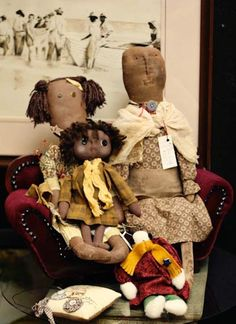 Primitive country home decor, dolls shop in Charlotte