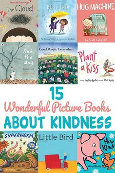 Whether you have a kindhearted kid or you are hoping to influence your child's developing interpersonal skills these picture books about kindness introduce your child to engaging characters and story lines demonstrating kindness in action. Preschool Books, Book Activities, Books For Preschoolers, Kindness Activities, Preschool Activities, Books About Kindness, Grande Section, Social Emotional Learning, Social Skills