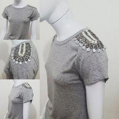 tshirt blusa bordada feminina