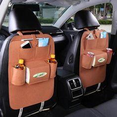 Auto Car Back Seat Storage Organizer Trash Net Holder Multi-Pocket Travel Storage Bag Hanger for Auto Capacity Storage Pouch Hanging Basket Storage, Seat Storage, Vehicle Storage, Food Storage, Corner Storage, Extra Storage, Hanging Chair, Car Seat Organizer, Pocket Organizer