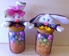 Tutorial - How to Make Bunny Mason Jar Toppers