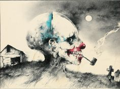 A whole gallery of the illustrations from Scary Stories to tell in the Dark... these things used to freak me out!
