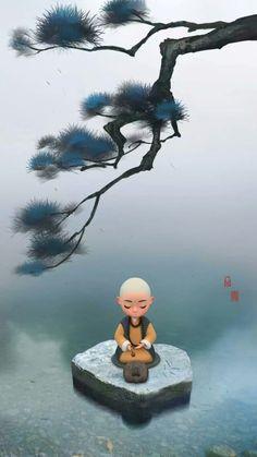 Buddha Background, Qi Gong, Baby Buddha, Buddha Sculpture, Meditation Art, Buddha Art, Zen Art, Fashion Painting, Classical Art