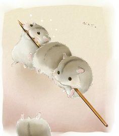 超萌小仓鼠/50352980 Cute Wallpapers, Cute Pictures, Anime Animals, Animals And Pets, Cute Animals, Kawaii Drawings, Cute Drawings, Animal Paintings, Animal Drawings