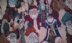 Santa Vest Ladies 2 3XL Holiday Winter Faux Tapestry Jacquard Embroidered | eBay