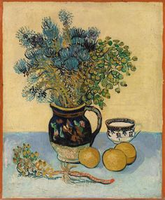 Still Life Majolica Jug with Wildflowers Vincent van Gogh art for sale at Toperfect gallery. Buy the Still Life Majolica Jug with Wildflowers Vincent van Gogh oil painting in Factory Price. Vincent Van Gogh, Art Van, Flores Van Gogh, Van Gogh Still Life, Van Gogh Arte, Van Gogh Pinturas, Barnes Foundation, Van Gogh Paintings, Flower Paintings