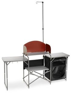REI Camp Kitchen. My husband and I love camping, and so we put this on our wedding registry.  Kinda wierd, huh, but we thought it was neat. And since it is kinda pricey, we thought-why not.  We did get it. It's easy to assemble.  $119.00