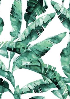 Banana leaves pattern Poster in the group Posters & Prints at Desenio AB (2285)