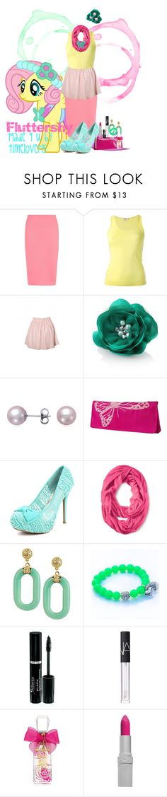"""""""Fluttershy Canterlot Wedding"""" by spectrastarlight ❤ liked on Polyvore featuring P.A.R.O.S.H., White House Black Market, Blue Nile, Sylvia Alexander, Kenneth Jay Lane, Dirty Pretty Things, NARS Cosmetics, Juicy Couture, T. LeClerc and awesome"""