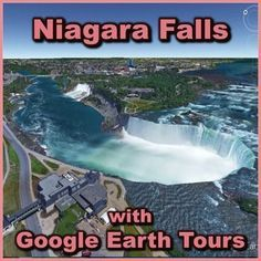 Tour Niagara Falls with Google Earth (02:10)  Make a virtual field trip to one of North America?s most famous landmarks; Niagara Falls. You will be using Google Earth to watch a pre-recorded tour of the American Falls, Bridal Veil Falls, and Horseshoe Falls. The product includes a document of about 15 talking points and a pdf that describes what you are seeing based on the corresponding minutes in the video. by RKN - Nygren Educational Resources. Social Studies For Kids, Social Studies Activities, Learning Activities, Teaching Resources, Learning Web, Classroom Activities, Teaching Ideas, Virtual Travel, Virtual Tour