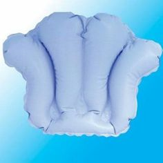 "Inflatable Bath Pillow with Suction Cups by Complete Medical. $15.00. Dimensions: 14"" L x 22"" W. Shell Shape. Supports head and neck while relaxing in the bathtub.Inflates easily to desired comfort level. Constructed of heavy-duty vinyl. Four suction cups hold pillow securely in place. Dual-valve system.Stores compactly when not in use."