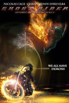Ghost Rider Spirit of Vengeance HD Wallpaper Ghost Rider 2, Spirit Of Vengeance, Nicolas Cage, Idris Elba, Comic Page, Hd Wallpaper, Marvel, Movie Posters, Wallpaper In Hd
