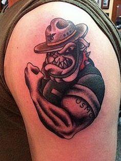 Marine bulldog drawings tattoos art pinterest for Iwo jima tattoo