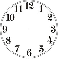 The best selections of blank clock face templates are available for your kids in high definition that they can use as the media to learn telling time. Wall Clock Template, Blank Clock Faces, Clock Clipart, Clock Face Printable, Face Template, Vitrine Miniature, Stitch Book, Cross Stitch, Diy Clock